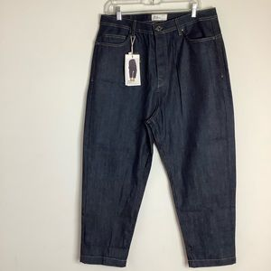 Zara Man NWT Wide Leg Relaxed Fit Cropped Jeans 34